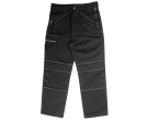 Roughneck Clothing Black Multi Zip Work Trouser Waist 42in Leg 31in