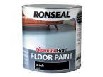 Ronseal Diamond Hard Floor Paint Black 2.5 Litre