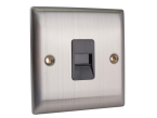 SMJ Secondary Telephone Outlet Brushed Steel