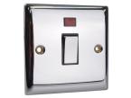 SMJ DP Neon Switch 20A Chrome