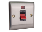 SMJ DP Neon Switch 45A Brushed Steel