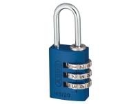 ABUS 145/20 20mm Aluminium Combination Padlock Blue 46568