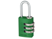 ABUS 145/20 20mm Aluminium Combination Padlock Green 46571