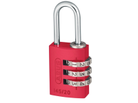 ABUS 145/20 20mm Aluminium Combination Padlock Red 46569