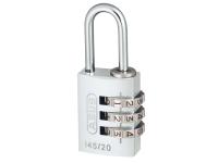 ABUS 145/20 20mm Aluminium Combination Padlock Silver 46574