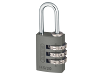 ABUS 145/20 20mm Aluminium Combination Padlock Titanium 46576