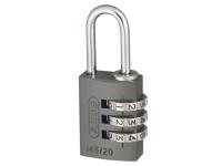ABUS 145/20 20mm Aluminium Combination Padlock Titanium 46576