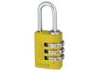ABUS 145/20 20mm Aluminium Combination Padlock Yellow 46572