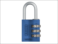 ABUS 145/30 30mm Aluminium Combination Padlock Blue 46577