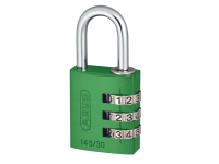 ABUS 145/30 30mm Aluminium Combination Padlock Green 46580