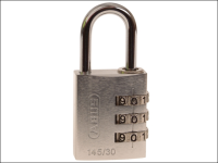 ABUS 145/30 30mm Aluminium Combination Padlock Silver 46583
