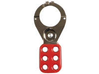 ABUS 802 Lock Out Hasp 38mm Red with Safety Clamp