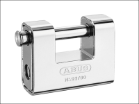 ABUS 92/80 80mm Monoblock Brass Body Shutter Padlock Keyed 2745