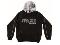 Apache Hooded Sweatshirt Black / Grey - XXL (52in)