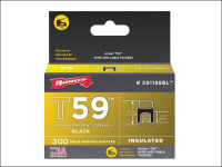 Arrow T59 Insulated Staples Black 6 x 8mm Box 300