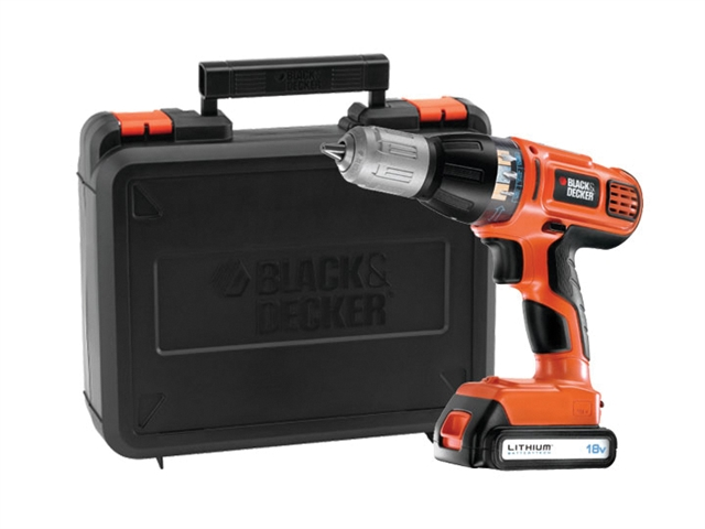 Black & Decker ASL188K Autoselect Hammer Drill 18 Volt 1 x 1.3Ah Li-Ion 18V