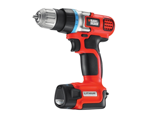 Black & Decker EGBL108K Compact Drill Driver 10.8 Volt 1 x 1.3Ah Li-Ion 10.8V