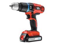 Black & Decker EGBL88K Cordless Combi Hammer Drill 2 Speed 18 Volt 1 x 1.3Ah Li-Ion 18V