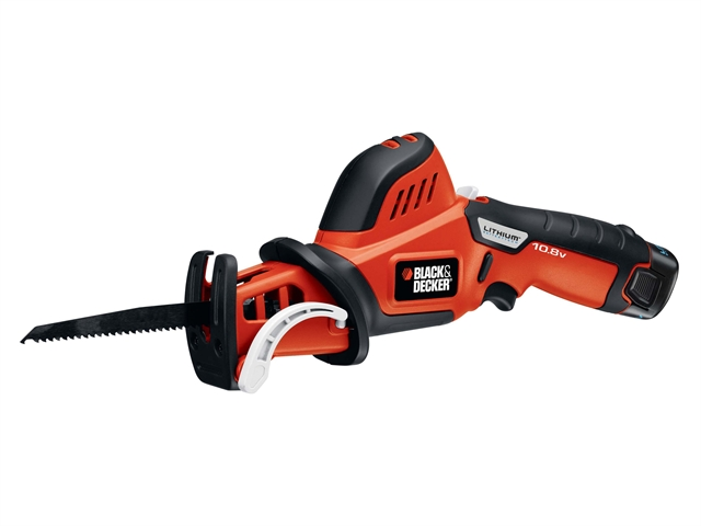 Black & Decker GKC 108 Cordless Reciprocating Saw Branch Clamp 10.8 Volt 1 x 1.3Ah Li-Ion 10.8V