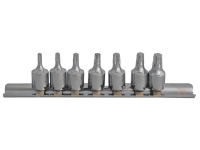 BlueSpot Tools Torx Socket Set of 7 1/4in Square Drive
