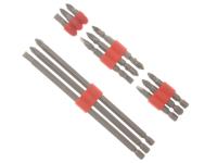 BlueSpot Tools Power Bit Set Std / Long  12 Piece
