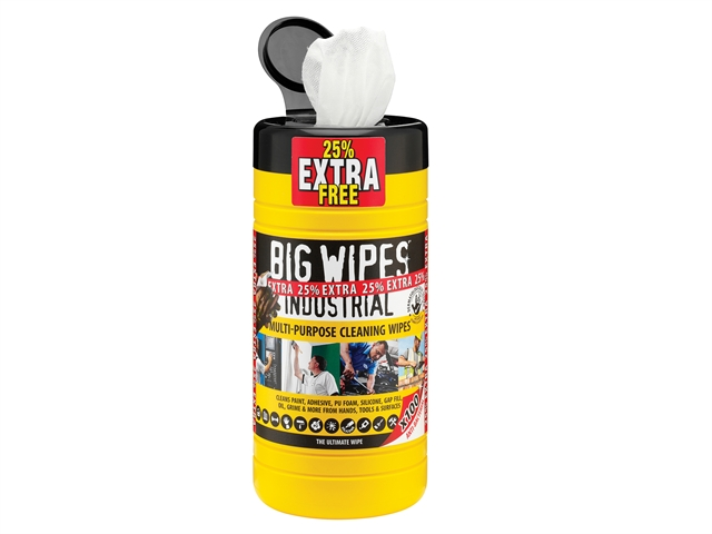 Big Wipes Black Top Multi-Purpose Wipes Tub of 80 + 25% Extra