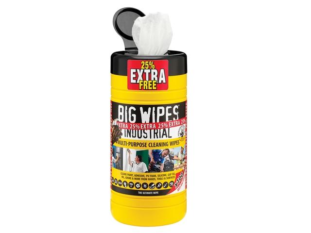 Big Wipes Black Top Multi-Purpose Wipes Tub of 80 + 25% Extra