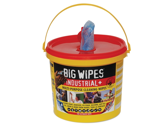 Big Wipes Red Top Heavy-Duty Wipes 80 Bucket of 240