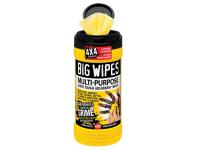 Big Wipes Black Top 4x4 Multi-Purpose Hand Cleaners Tub of 80
