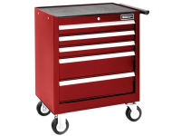 Britool Roller Cabinet 5 Drawer - Red