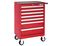 Britool Roller Cabinet 7 Drawer - Red
