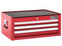 Britool Mid Section Chest 3 Drawer - Red