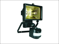 Byron ES120 Halogen Floodlight with Motion Detector Black 120 Watt