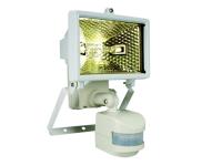 Byron ES120W Halogen Floodlight with Motion Detector White 120 Watt