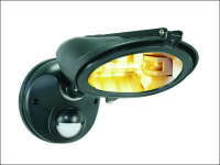 Byron ES128 Halogen Floodlight with Motion Detector Black 120 Watt