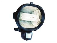 Byron ES24 Energy Saving Spotlight with Motion Detector Black 24 Watt