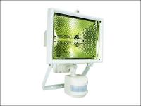 Byron ES400W Halogen Floodlight with Motion Detector White 400 Watt