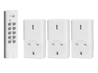 Byron Home Easy Remote Control 3 Pack Socket Kit (White)