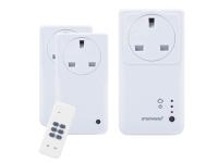 Byron SmartHome Remote Control WIFI Socket Set With App 3 Piece