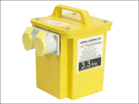 Carroll & Meynell 3300/2 Transformer Twin Outlet  Rating 3.3 Kva Continuous 1.65kva