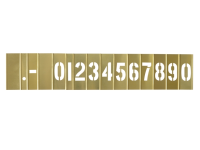 C H Hanson Brass Stencil Set Numbers 2in 15 Piece Set