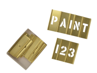 C H Hanson Brass Stencils Letters/Numbers 1in 45 Piece Set