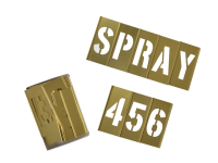 C H Hanson Brass Stencils Letters/Numbers 3in 45 Piece Set