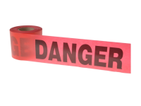 C H Hanson Tape - Danger Red 91m (300ft)