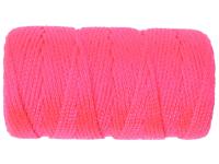 C H Hanson Braided Fluorescent Pink Nylon Line Refill 76m (250ft)
