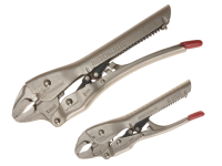 C H Hanson Automatic Locking Pliers Set of 2 150mm & 250mm Curved Jaw