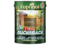 Cuprinol Ducksback 5 Year Waterproof for Sheds & Fences Forest Oak 5 Litre