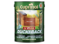 Cuprinol Ducksback 5 Year Waterproof for Sheds & Fences Rich Cedar 5 Litre