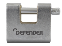 DEFENDER Armoured Warehouse Block Padlock 80mm Keyed Alike