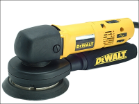 DEWALT DW443 150mm Body Grip Random Orbit Variable Speed Sander 530 Watt 230 Volt 230V